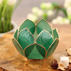 12 Petals Green Tea-Light Holder