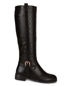 Brown Calf Length Boots