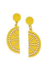 Yellow Quirky Drop Earrings