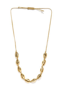 Women Gold-Toned Sea Shell Alloy Necklace