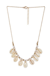 Women Gold-Toned & White Under the Sea Necklace