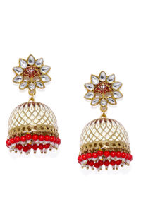Women Multicoloured Dome Shaped Jhumkas
