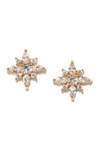 Cometa Gold Plated Stud Earrings