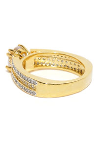Gold Plated Central Park Stone Studded Ring