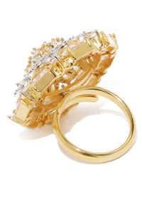 Gold-Toned Fiery Passion Ring