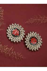 Red Utpala Earring