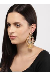 Multicoloured Crescent Shaped Drop Earrings