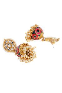 Multicoloured Dome Shaped Jhumkas