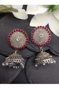 Pink Shield Earring