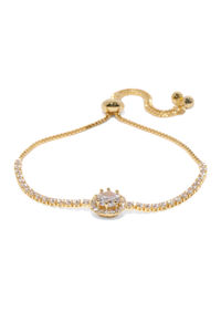 Women Gold-Toned Stone-Studded Charm Bracelet