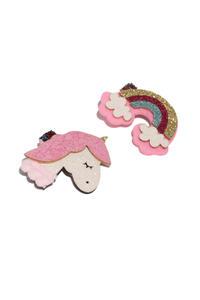 Set of 2 Embellished Alligator Hair Clips