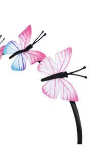 Black and Pink Embellished Hairband
