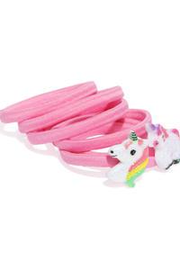 Girls Set of 6 Pink Ponytail Holders
