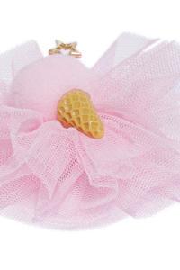 Pink Embellished Alligator Hair Clip
