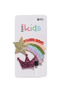 Hairbows Glitter Kids Hair Clips