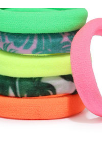 Multicolor Printed Rubber Band Set