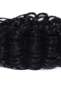 Black Frilly Rubber Band