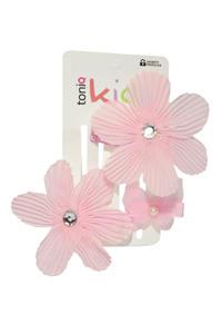 Girls Pink Set of Alligator & Tic-Tac Hair Clip