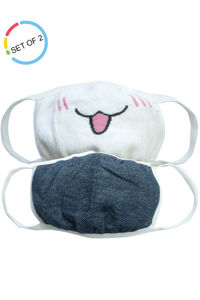 Funny Face Kids Face Mask- Set of 2 (3-6 years)