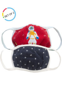 Space Invaders Kids Face Mask- Set of 2 (6-12 years)