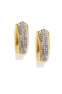 Gold-Toned Contemporary Hoops