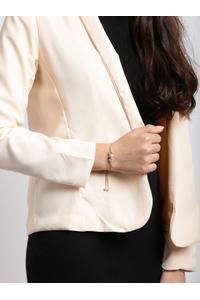 Gold Toned Cz Stone Studded Bangle Bracelet For Women