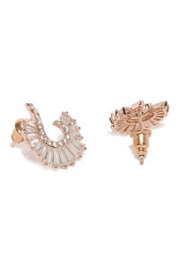 Rose Gold-Toned Contemporary Studs