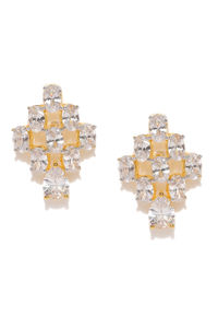Gold-Plated Cz Stud Earring For Women
