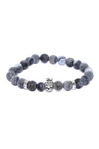 Lion Charm Onyx Stone Bracelet