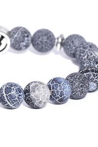 Anchor Charm Onyx Stone Bracelet