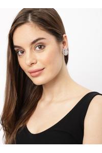 Gold-Plated Cz Geometric Drop Earring For Women