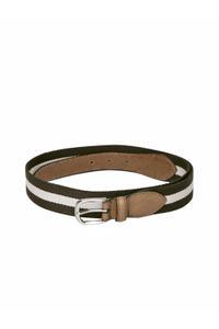 Brown & Cream Stripped Belt For Men