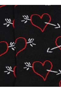 Men Black & Red Patterned Above Ankle Length Socks