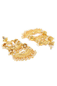 Gold Tone Contemporary Drop Earrings For Women