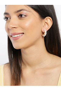 Off-White Geometric Half Hoop Earrings