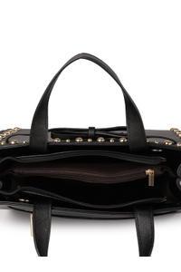 Black Studded Handheld Bag