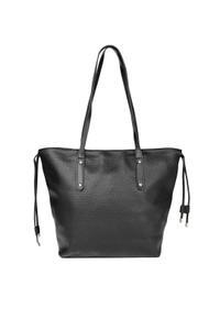 Black Solid Shoulder Bag