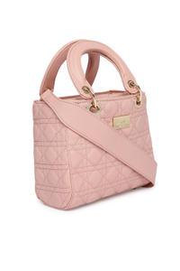 Light Pink Textured Handheld Bag