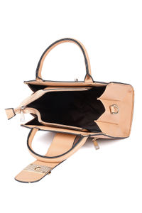 Peach Buckle Up A-Line Bag