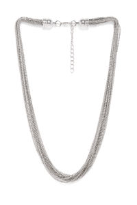 Silver-Toned Multistranded Necklace
