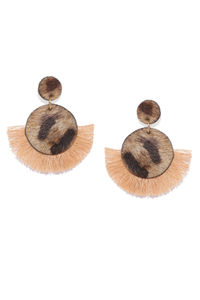 Cheetah Print Tassel Earrings