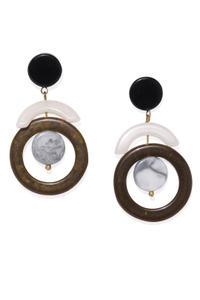 Bronze Geometrical Drop Earrings