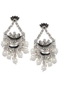 Silver-Toned Classic Drop Earrings