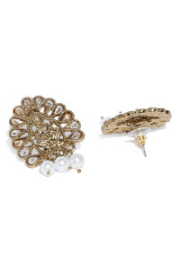 Gold-Toned & Off-White Classic Studs