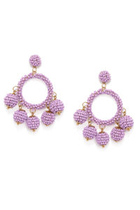 Purple Circular Drop Earring For Women
