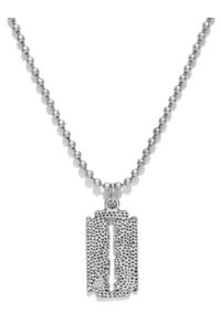 Men Oxidised Silver-Toned Necklace