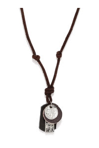 Men Brown & Silver-Toned Necklace