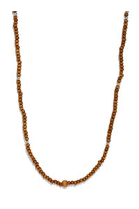 Men Brown Beaded Necklace