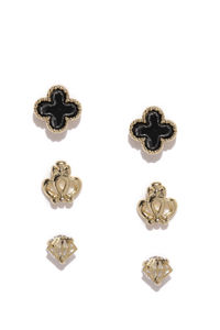 Set Of 3 Stud Earring For Girls