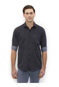Printed Black Color Cotton Slim Fit Shirts